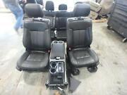 09-14 Ford F150 Lariat Black Leather Front/rear Seats W/console Heated/power