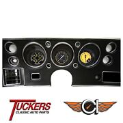 1970-72 Chevy Chevelle Car Auto Cross Yellow Gauges Classic Instruments Cv70axy
