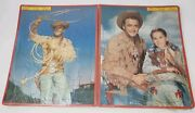 Buffalo Bill Junior - Built-rite Stay-n-place Puzzle - New Old Stock -lot Of 2