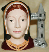 Royal Doulton Large Character Toby Jug Catherine Of Aragon D6643 New