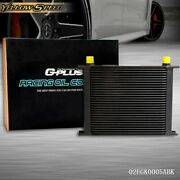 Fit For 30 Row An-10an Universal Aluminum Engine Transmission Oil Cooler Black
