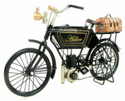 Handmade Cast Iron Motorcycle Model Toy 1903 Adler Motorbike Craft Collection