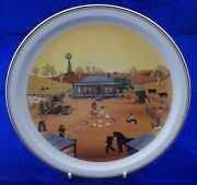 Villeroy And And Boch Scenes Of Australia No4 The Homestead Plate N Wildman Bf005