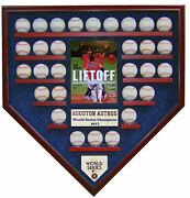Houston Astros 30 Baseball World Series Champions Homeplate Shaped Display Case