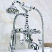 Chrome Bath Tub Faucets Deck Mount With Hand Shower Head Bath And Shower Faucet