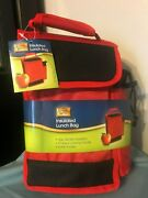 Leisure Ways Thermal Insulated Lunch Bag With Bottle Pocket 11 X 7 X 5nwt