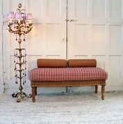 Polo Vintage Wicker Upholstered Bench