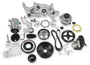 Holley 20-180 Ls Premium Mid-mount Complete Accessory Drive Kit Fits All Ls V8and039s