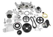 Holley 20-180p Polished Premium Mid-mount Complete Accessory Kit For Ls Engines