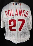 Placido Polanco 2011 All Star Game Issued Nl Team Signed Jersey Mlb Holo Cfs