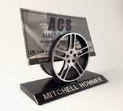 Custom Business Card Holder - Personalized Automotive Styled Desktop Display