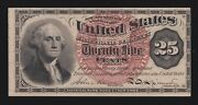 Us 25c Fractional Currency 4th Issue Uwmk Large Seal Fr 1301 Ch Cu -004