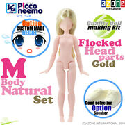Azone 1/12 Picco Neemo M Natural Body And Flocked Head Parts Gold Hair Doll New