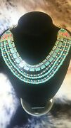 Sale Rare Mint Couture Cleopatra Egyptian Gold Necklace Collar Hattie Carnegie