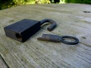 Vintage Padlock With One Key, Working Order, Unique Design, Collector 10-01