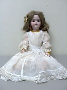 Simon And Halbig Antique 17 German Doll, Bisque Socket Head, Dolly Face 1079