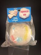 Vintage 1960andrsquos Alan Jay Clarolyte Squeak Squeeze Toy In Original Package Rare