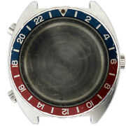 Tag Heuer Autavia Watch Case With Acrylic Crystal And Blue And Red Bezel 11630