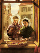 William Powell Frith Powell At My Window Boulogne Artiste Reproduction Peinture