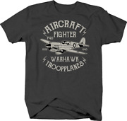 Aircraft Fighter P40 Warhawk Troop Planes For Usa Airforce Tshirt
