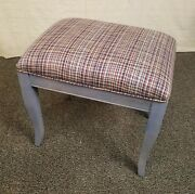 Ethan Allen Country Colors Accent Stool Seat Chair Ottoman 667 Denim Blue