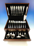 English Provincial By Reed And Barton Sterling Silver Flatware Set Service 42 Pc