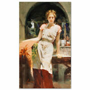 Pino Giclee Canvas S/ In The Glow Beauty In Kitchen Apron With Coa 40x24