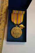 Original Wwii Asiatic Pacific Campaign Medal, More With Original Box Look Jsh