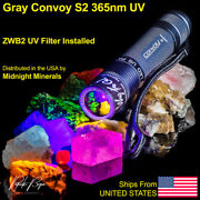 Uv Flashlight Way Too Cool Convoy S2 Gray 365nm Filtered Longwave Led Mineral