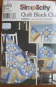Simplicity Quilt Block Club Pattern 9169, Variable Star And Log Cabin Blocks