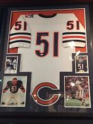 Dick Butkus Chicago Bears Signed Framed Matted Mitchell And Ness Jersey Jsa Coa
