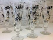 Vintage Beer Glasses Mid Century 7 Pcs Old Cars Antique Auto Carriage Designs