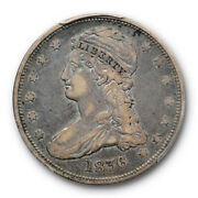 1836 50c Reeded Edge Capped Bust Half Dollar Pcgs Vf 20 Very Fine Cac Approved