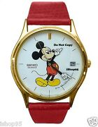Brand New Menand039s Disney Mickey Mouse Seiko Date Watch Htf