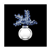 Genuine Lalique Clairefontaine Perfume Bottle Midnight Blue And Crystal 10363600