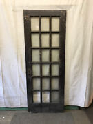 18 Lite Exterior Door Panes Of Clear Glass Architectural Salvage Vintage 30x80 X