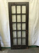 15 Lite Exterior Door Panes Of Clear Glass Architectural Salvage Vintage 32x80 X