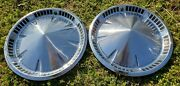 Pair Of 2 14 1957 Plymouth Fury Belvedere Hubcaps Wheel Covers