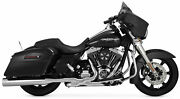 Vance And Hines Oversized 450 Slip-on Chrome 16549 Fits 95-14 Touring Exc Triglide