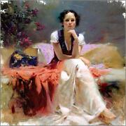 Pino First Glance Sold Out Beautiful Lady Giclee Canvas Hand Signed/coa