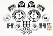 Wilwood Pro Series Front Disc Brake Kit,1937-47 Ford Truck,46-49 Anglia,drilled