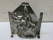 """Antique Santa Claus On Donkey 8.5"""" Chocolate Mold Ges. Gesch. Vintage Rare"""