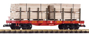 Piko 38740 Santa Fe Flat Car With Lumber Load G Scale Trains Freight Cars