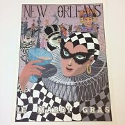 Vtg‼ George Luttrell Numbered Poster Print 12 X 16 New Orleans Le Mardi Gras