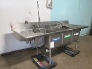 American Delphi Commercial 3 Compartment Sink W/sprayer Wand Chem Dispenser
