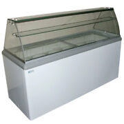 New 12 Pan Gelato Dipping Cabinet Curved Glass Display Freezer Excellence Hbg-12