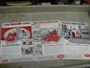 Ford Implement Sales Brochures Blades Rotary Cutter Slip Scoop 600 800 Tractor