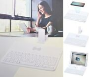 Wireless Bluetooth Keyboard Qi Phone Charger Tablet Holder Android Apple Ios Uk