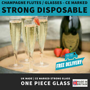 Plastic Champagne Flutes | Uk Made | Recyclable | 180ml | One Piece Glass