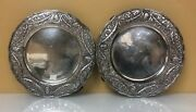 Beautiful Set Of Silver Antique German Plates On Claw Feet Circa 1900